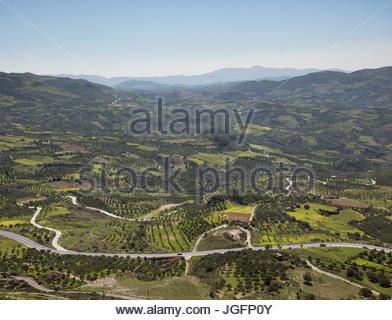 View over central Crete. - Stock Photo