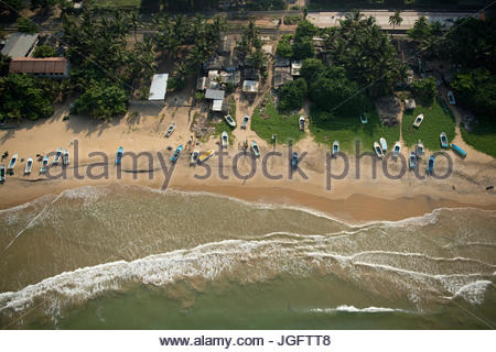 A beach in Dehiwala-Mount Lavinia, the largest suburb of the capital Colombo, in Western Province, Sri Lanka. - Stock Photo