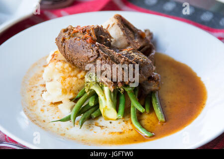 Elk Shank at Salmon N' Bannock Native Food Bistro, Fairfield Slopes, Vancouver, Canada - Stock Photo