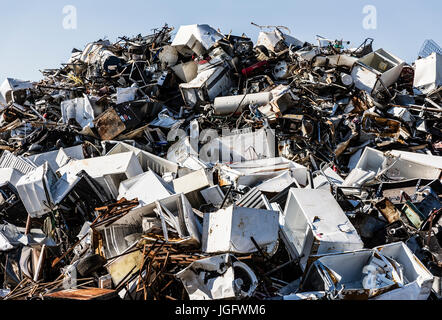Scrap metal recycling facility. - Stock Photo