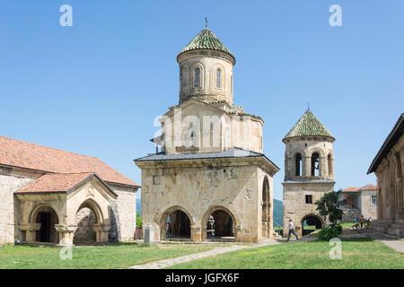 St. Nicholas Church and Belfry, Gelati Monastery, Kutaisi, Imereti Province (Mkhare), Georgia - Stock Photo