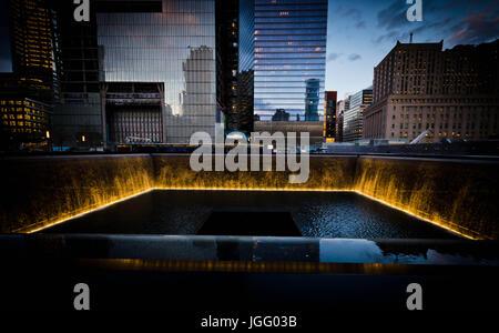 9/11 Memorial & Museum at night