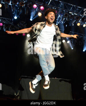 Milwaukee, Wisconsin, USA. 5th July, 2017. Rap artist KYLE performs live at Henry Maier Festival Park during Summerfest - Stock Photo