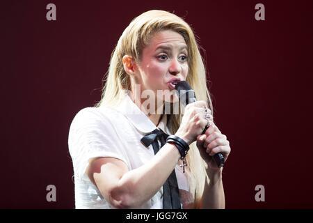 Hamburg, Germany. 6th July, 2017. Shakira at Global Citizen Festival 2017 at Barclaycard Arena in Hamburg, Germany. - Stock Photo