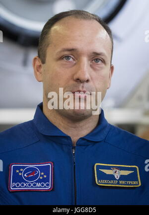Zvyozdny Gorodok, Moscow Region, Russia. 07th July, 2017. ISS Expedition 52/53 backup crew member, Roscosmos cosmonaut - Stock Photo