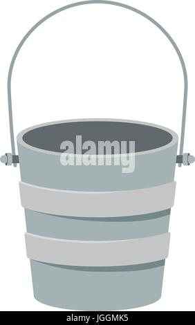 colorful silhouette metallic bucket container - Stock Photo