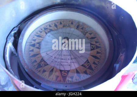 Compass, navigation; 2016, Rio de Janeiro, Brazil. - Stock Photo