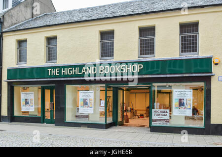new independent bookshop booksellers - The Highland Bookshop - being fitted out the week before opening - Fort William, - Stock Photo