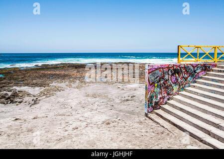 Cavancha Beach (Playa Cavancha). Iquique, Tarapaca Region, Chile. - Stock Photo