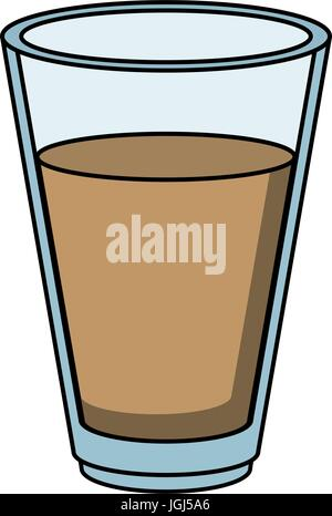 glass with drink vector illustration - Stock Photo