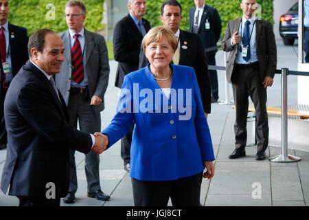 Abd al Fattah as Sisi (Praesident Aegypten), BKin Angela Merkel - Treffen der dt. Bundeskanzlerin mit afrikanischen - Stock Photo