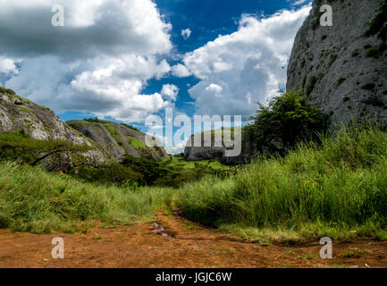 The Black Rocks of Pungo Andongo, Angola - Stock Photo