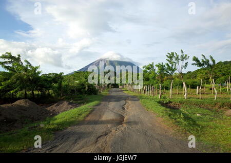 An amazing view of Volcan Concepcion on Isla Ometepe in Nicaragua - Stock Photo