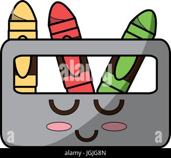 cute crayons cartoon icon vector illustration graphic design stock photo - Cartoon Pictures Of Crayons