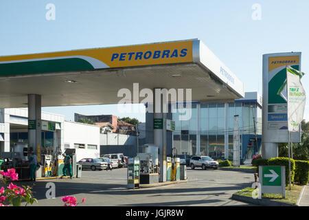 Asuncion, Paraguay. 7th Jul, 2017. Brazilian state-controlled oil company Petroleo Brasileiro SA (Petrobras) disclosed - Stock Photo