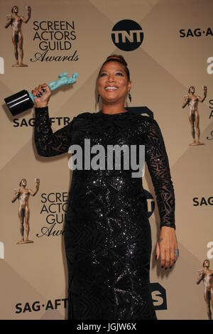 Los Angeles, CA, USA. 30th Jan, 2016. LOS ANGELES - JAN 30: Queen Latifah at the 22nd Screen Actors Guild Awards - Stock Photo