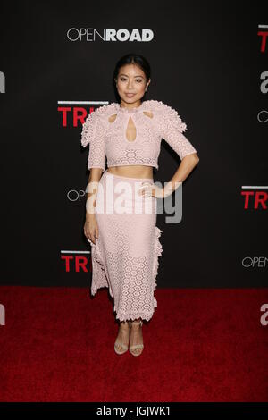 February 16, 2016 - Los Angeles, CA, USA - LOS ANGELES - FEB 16:  Michelle Ang at the Triple 9 Premiere at the Regal - Stock Photo