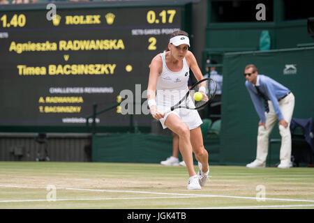 London, UK. 8th July, 2017. The Wimbledon Tennis Championships 2017 held at The All, UK. 08th July, 2017. Lawn Tennis - Stock Photo
