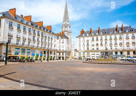 Nantes city in France - Stock Photo