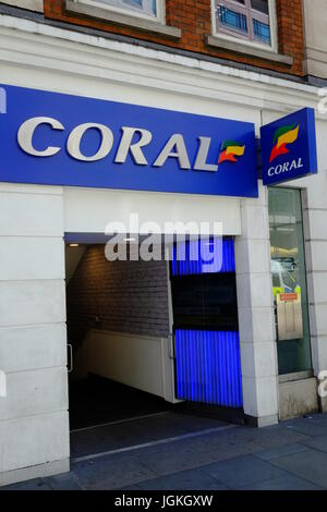 Liverpool Street branch of Coral the bookmakers - Stock Photo