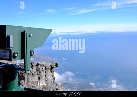 Cape Town,South Africa. Table Mountain one of the 7 natural wonders of the world. A visitor viewing platform with - Stock Photo