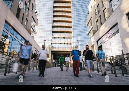 Milan, Italy - July 7th, 2017: Milan, Porta Nuova, Lombardy, Italy - Stock Photo
