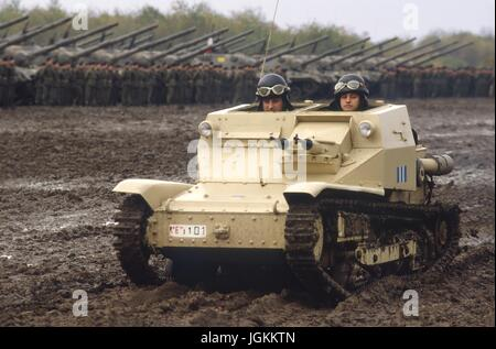 Italian Army, L3-35 light tank of World War II - Stock Photo