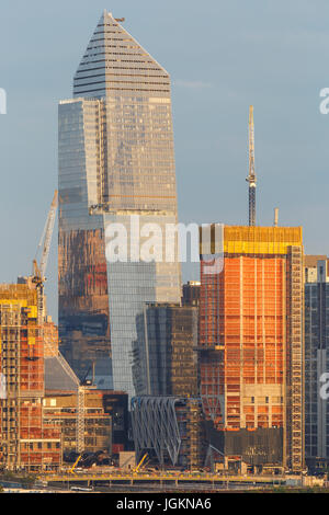 The developing Hudson Yards Project, under construction on the west side of Manhattan in New York City. - Stock Photo
