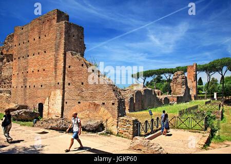 At the Domus Flavia (so called 'Basilica') on the Palatine (Palatino) hill, Rome, Italy. - Stock Photo