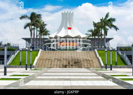 NANNING, CHINA - JUNE 9, 2017: Guangxi International Convention and Exhibition Center in Nanning, Guangxi capital. - Stock Photo