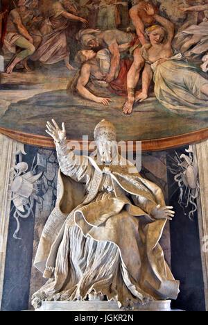 Statue of Pope Urbano VIII Barberini Pontifici Optimo Maximo (by Gian Lorenzo Bernini) in Capitoline Museum, Rome, - Stock Photo