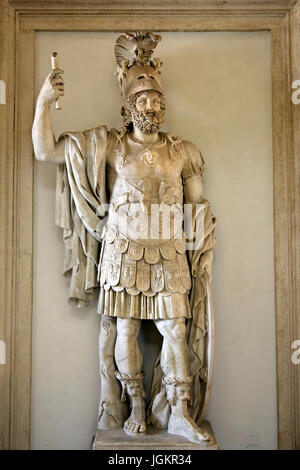 The colossal statue of Mars Ultor (also known as 'Pyrrhus') in the Capitoline museums, Rome, Italy. - Stock Photo