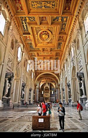 Inside the Arcibasilica di San Giovanni in Laterano (Archbasilica of St. John in Lateran), Rome, Italy.] - Stock Photo