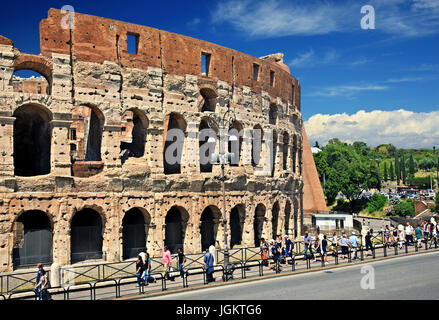 The Colosseum ('Colosseo'), also known as the 'Flavian Amphitheatre'), Rome, Italy