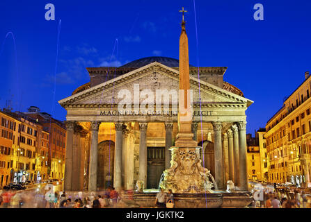 The Pantheon former Roman Temple, now a church of St. Mary and the Martyrs (Chiesa Santa Maria dei Martiri), Rome, - Stock Photo
