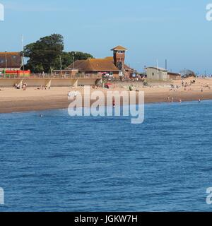 Exmouth sands on a summers day - Stock Photo