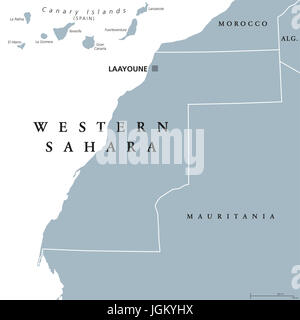 Morocco And Western Sahara Political Map Stock Photo 58880048 Alamy