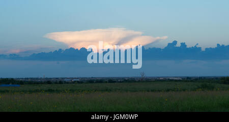fair weather clouds on a hot afternoon in Texas - Stock Photo
