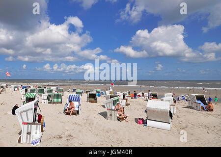 Germany, Lower Saxony, East Friesland, island, Wangerooge, East Frisian, islands, day, beach, vacation, beach, beach - Stock Photo