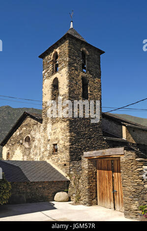 Church of Arros de Cardos in the Cardos Vallery, Pallars Sobira, Lleida province, Catalonia, Spain - Stock Photo