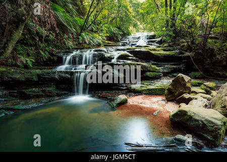 The Leura Cascades in Sydney's Blue Mountains - a great escape from the city with some great bushwalks. - Stock Photo