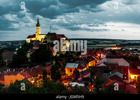 Mikulov Castle, Czech Republic, Europe - Stock Photo