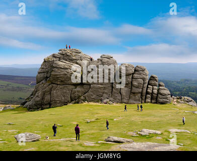 Haytor Rocks, Ilsington, Dartmoor National Park, Devon, England, United Kingdom - Stock Photo