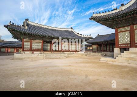 Gyeongbokgung in Seoul, South Korea. - Stock Photo