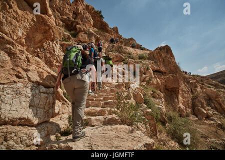 Mar Saba monastery at the desert (Israel) - Stock Photo