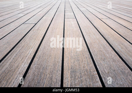 wooden parquet floor of a stage - Stock Photo