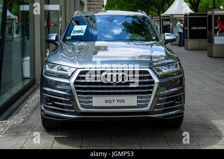 BERLIN - JUNE 17, 2017: Full-size luxury crossover SUV Audi SQ7 TDI, produced since 2016. Classic Days Berlin 2017. - Stock Photo