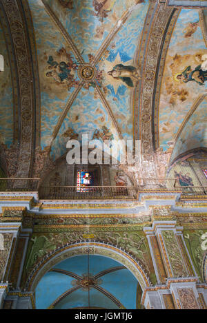 Cuba havana church of la merced altar stock photo for Mural nuestra carne