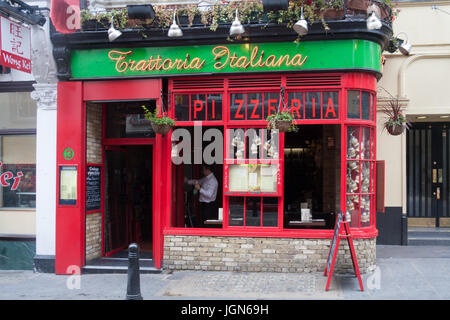 Trattoria Italiana Italian restaurant, Wardour street, Chinatown, London, England, United Kingdom - Stock Photo