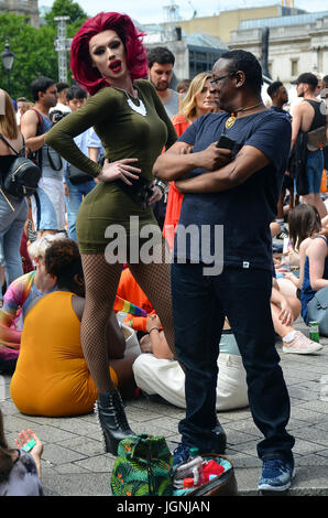 London, UK. 08th July, 2017. London Gay Pride parade 2017 Credit: JOHNNY ARMSTEAD/Alamy Live News - Stock Photo